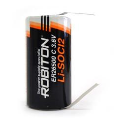 Элемент питания Robiton ER26500-FT C с лепестковыми выводами