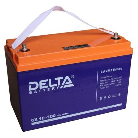 Свинцово-кислотный аккумулятор Delta GX 12-100