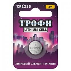 Элемент питания Трофи CR1216-1BL