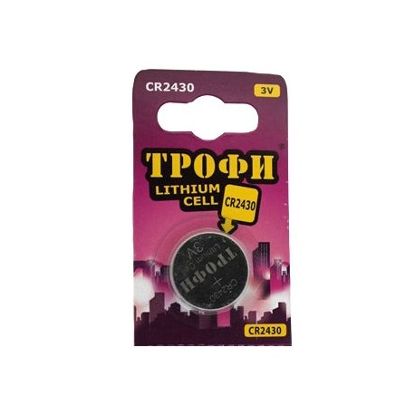 Элемент питания Трофи CR2430-1BL