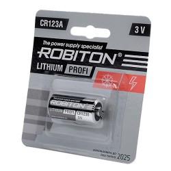 Литиевая батарейка Robiton Profi CR123A BL1