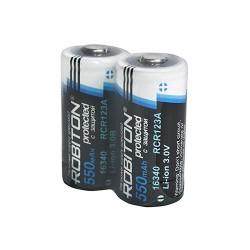 Аккумулятор ROBITON 16340 550mAh с защитой (3.7B) BL2