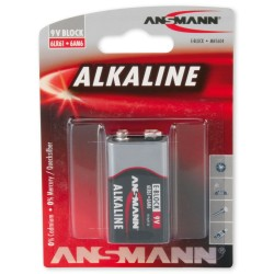 Батарея Крона ANSMANN RED 1515-0000 6LR61  BL1