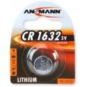 Литиевая дисковая батарейка ANSMANN 1516-0004 CR1632 BL1