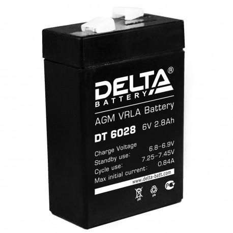 Свинцово-кислотный аккумулятор DELTA DT 6028 6V 2.8Ah