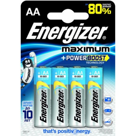 Батарейка Energizer Maximum LR6-4BL 1.5V