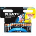 Батарейка Duracell TURBO LR03-12BL (AAA) MN2400 1.5 V