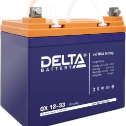 Гелевый аккумулятор Delta GX 1233 12V 33Ah