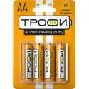 Батарейка Трофи R6-4BL AA