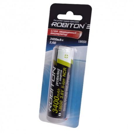 Аккумулятор Robiton 3.4 18650 3400мАч с защитой bulk (NCR18650B)