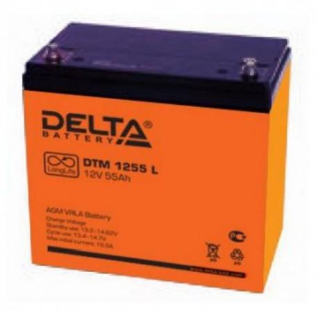 Свинцово-кислотный аккумулятор Delta DTM 1255 L 12V 55Ah